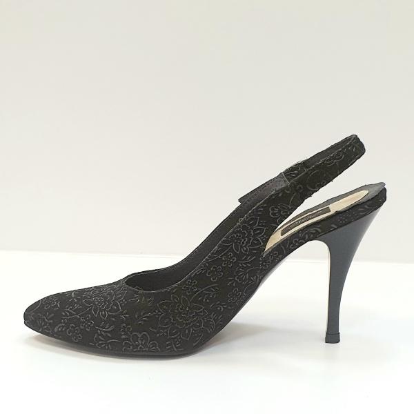 Pantofi Dama Piele Naturala Negri Jerusa D02624 1