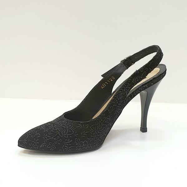 Pantofi Dama Piele Naturala Negri Jerusa D02624 2