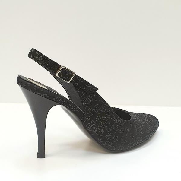 Pantofi Dama Piele Naturala Negri Jerusa D02624 3
