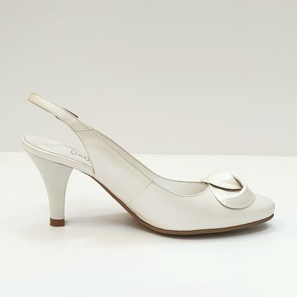 Pantofi Dama Piele Naturala Albi Lea D02625 0