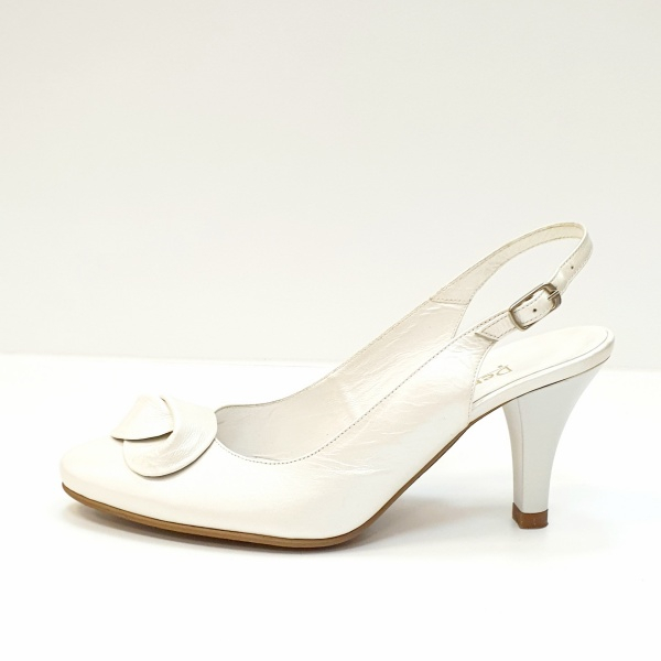 Pantofi Dama Piele Naturala Albi Lea D02625 1