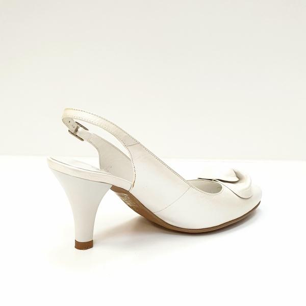 Pantofi Dama Piele Naturala Albi Lea D02625 3