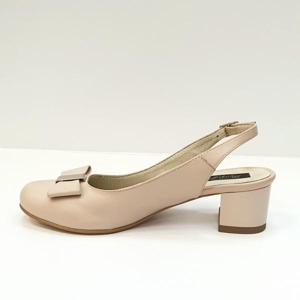 Pantofi Dama Piele Naturala Grej Magdalena D02626 1