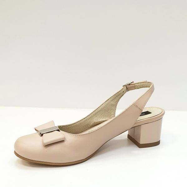 Pantofi Dama Piele Naturala Grej Magdalena D02626 2