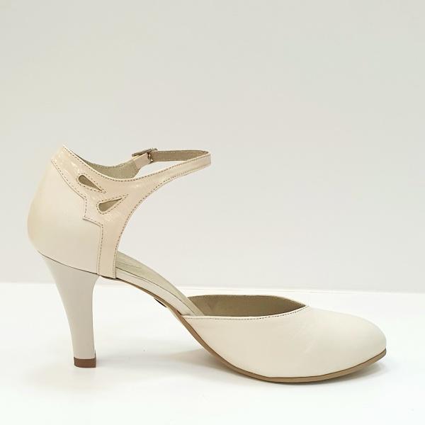 Pantofi Dama Piele Naturala Bej Guban Hermiona D02630 0