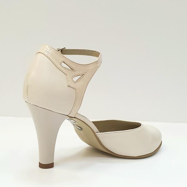 Pantofi Dama Piele Naturala Bej Guban Hermiona D02630 3