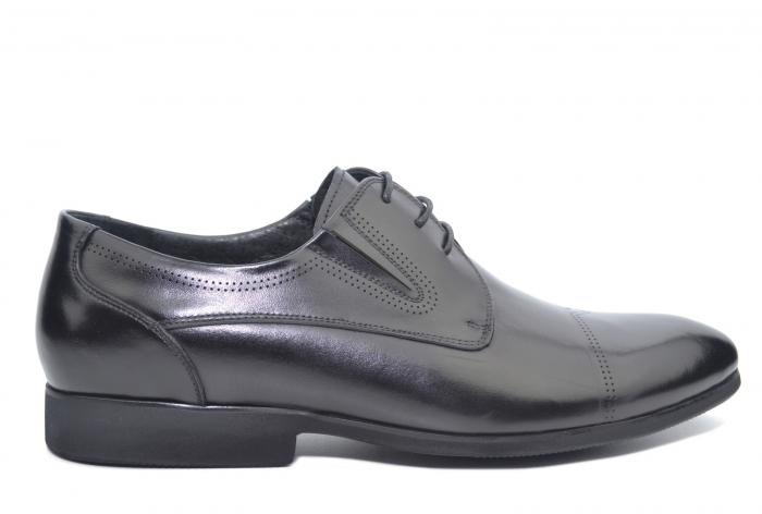 Pantofi Barbati Piele Naturala Negri Emanuel B00050 0