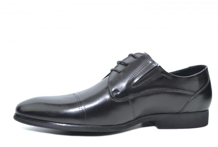 Pantofi Barbati Piele Naturala Negri Emanuel B00050 [2]