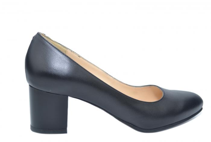 Pantofi cu toc Piele Naturala Negri Emma D02195 0