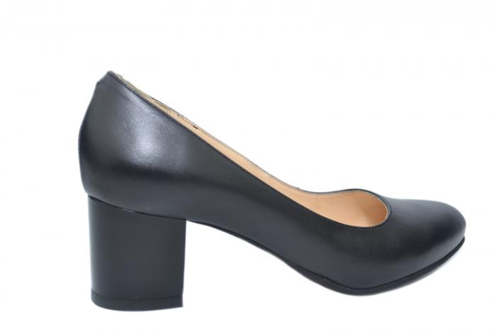 Pantofi cu toc Piele Naturala Negri Emma D02195 3