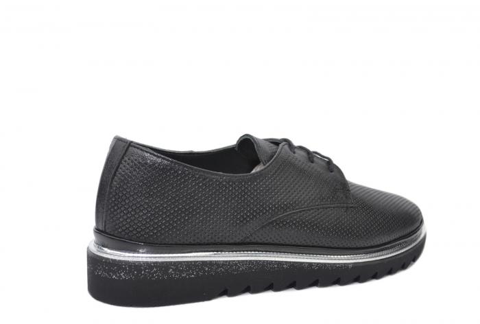 Pantofi Casual Piele Naturala Neagra Linda D02201 3