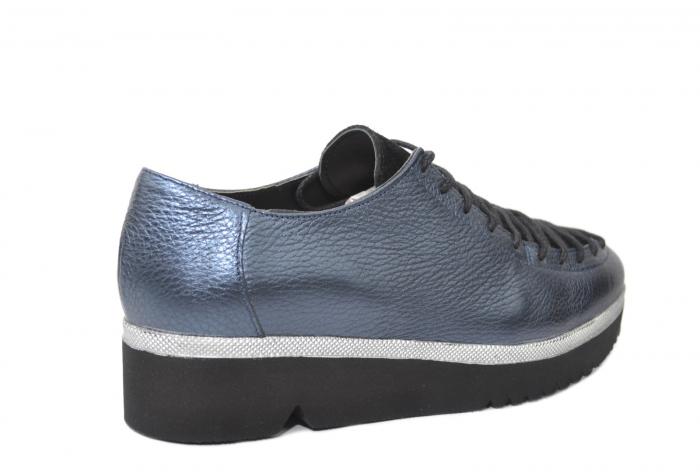 Pantofi Casual Piele Naturala Bleumarin Dorothea D02203 [3]