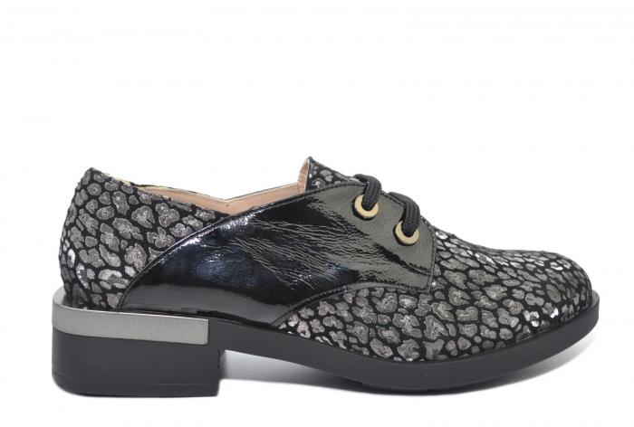 Pantofi Oxford Piele Naturala Neagra Letizia D02202 0