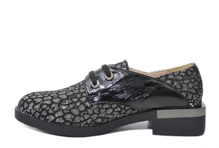 Pantofi Oxford Piele Naturala Neagra Letizia D02202 1