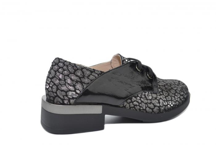 Pantofi Oxford Piele Naturala Neagra Letizia D02202 3
