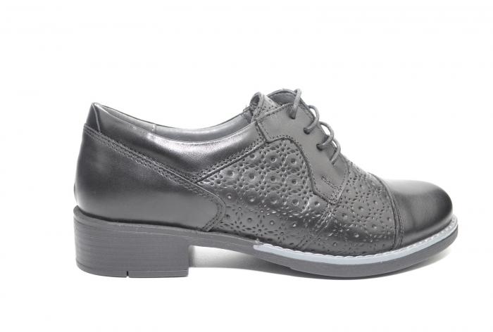 Pantofi Oxford Piele Naturala Neagra Anita D02208 0