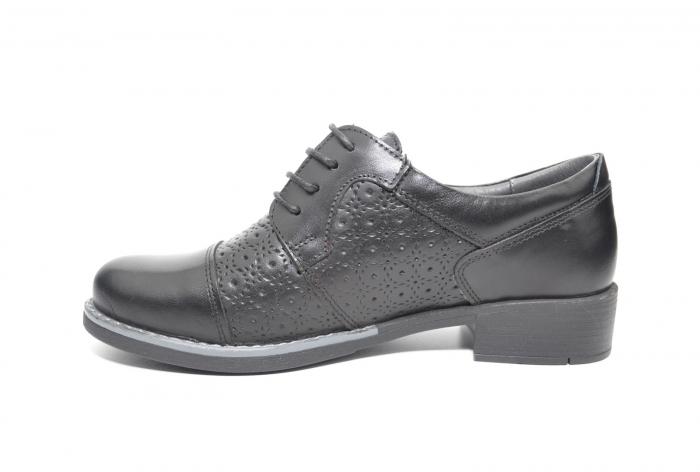 Pantofi Oxford Piele Naturala Neagra Anita D02208 1