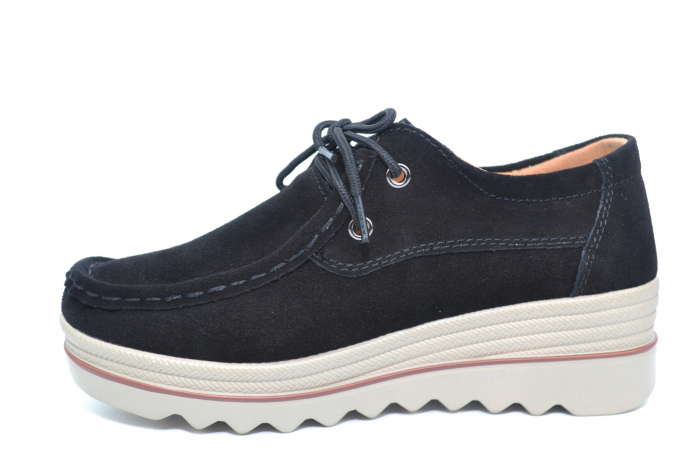 Pantofi Casual Piele Naturala Negri Caterina D02262 [1]