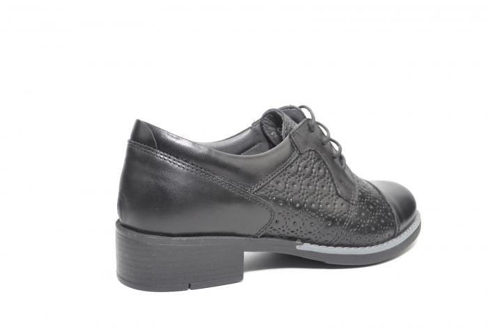 Pantofi Oxford Piele Naturala Neagra Anita D02208 3