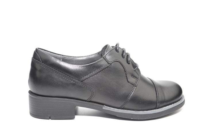 Pantofi Oxford Piele Naturala Neagra Anita D02206 0