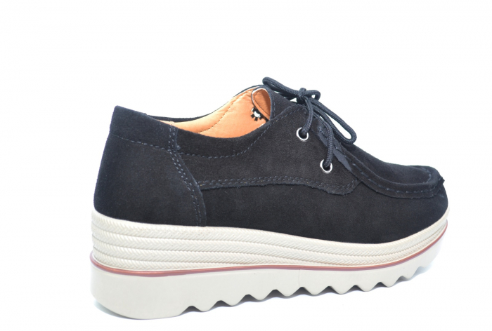 Pantofi Casual Piele Naturala Negri Caterina D02262 [3]