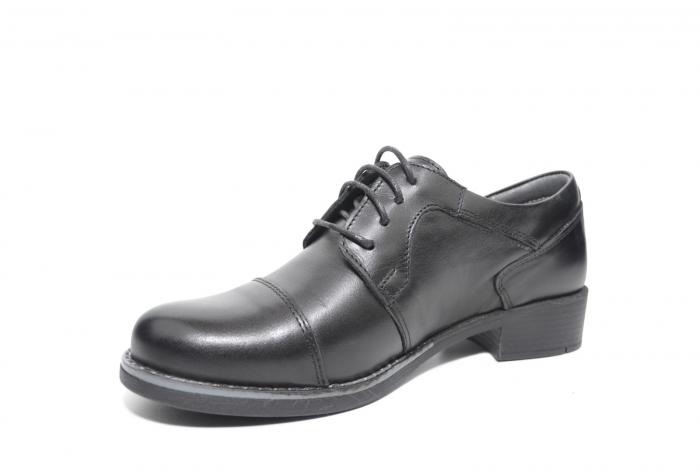 Pantofi Oxford Piele Naturala Neagra Anita D02206 2
