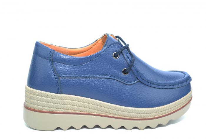 Pantofi Casual Piele Naturala Bleumarin Caterina D02259 0