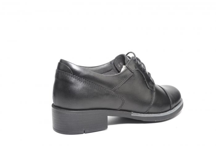Pantofi Oxford Piele Naturala Neagra Anita D02206 3