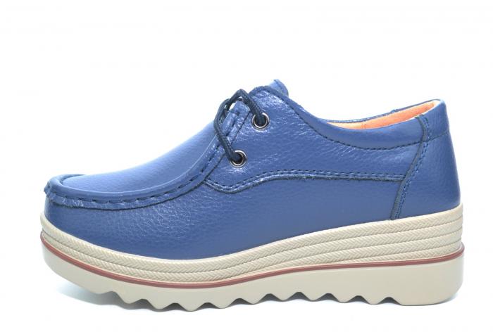 Pantofi Casual Piele Naturala Bleumarin Caterina D02259 1