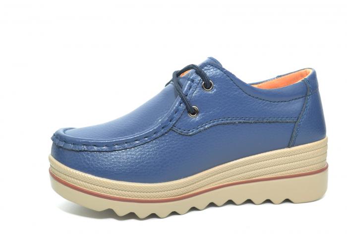 Pantofi Casual Piele Naturala Bleumarin Caterina D02259 2