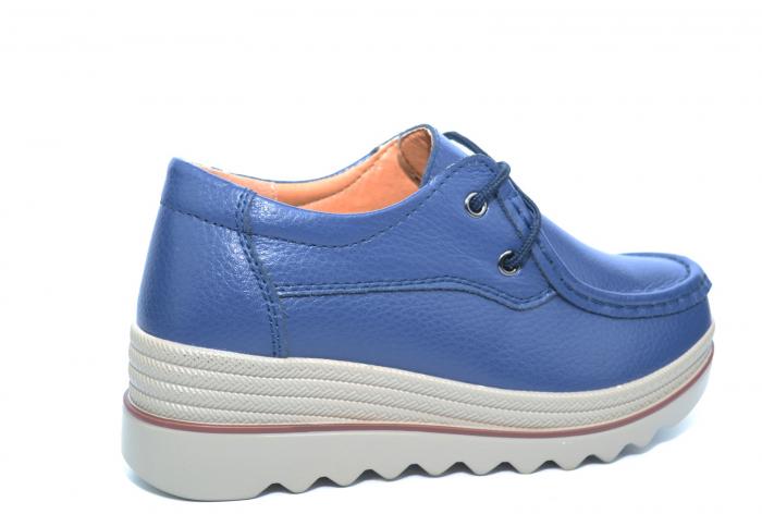 Pantofi Casual Piele Naturala Bleumarin Caterina D02259 3