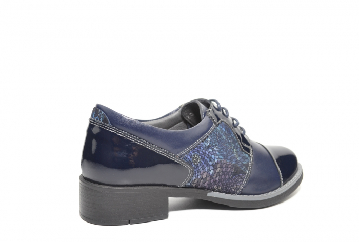 Pantofi Piele Oxford Naturala Bleumarin Anita D02205 3