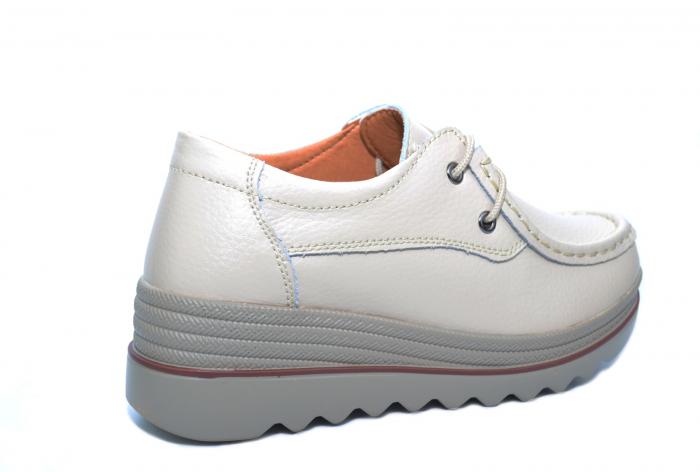 Pantofi Casual Piele Naturala Bej Caterina D02264 3