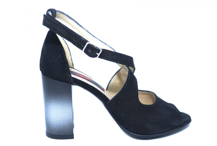 Pantofi Piele Naturala Negri Francisa [0]