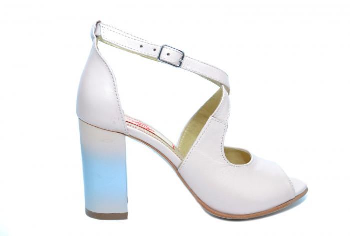 Pantofi Piele Naturala Bej Francisa 0