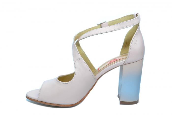 Pantofi Piele Naturala Bej Francisa 1