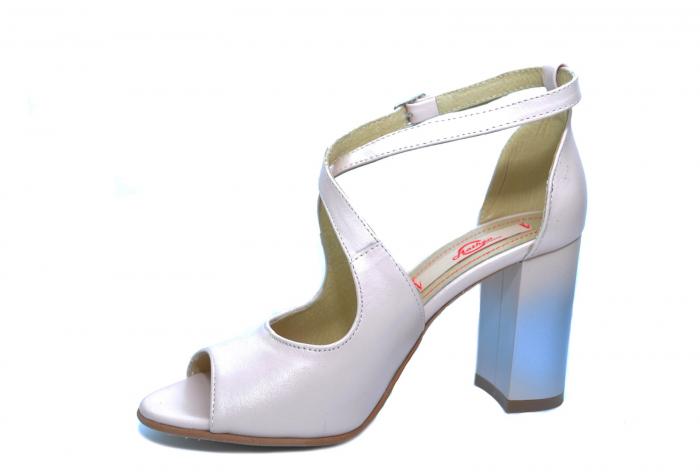 Pantofi Piele Naturala Bej Francisa 2