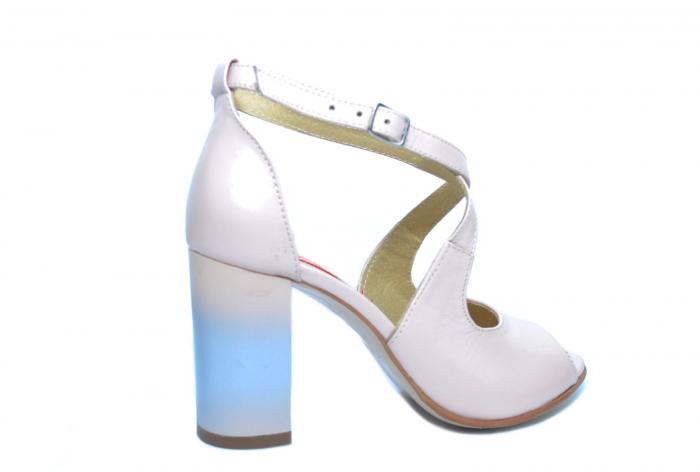 Pantofi Piele Naturala Bej Francisa 3