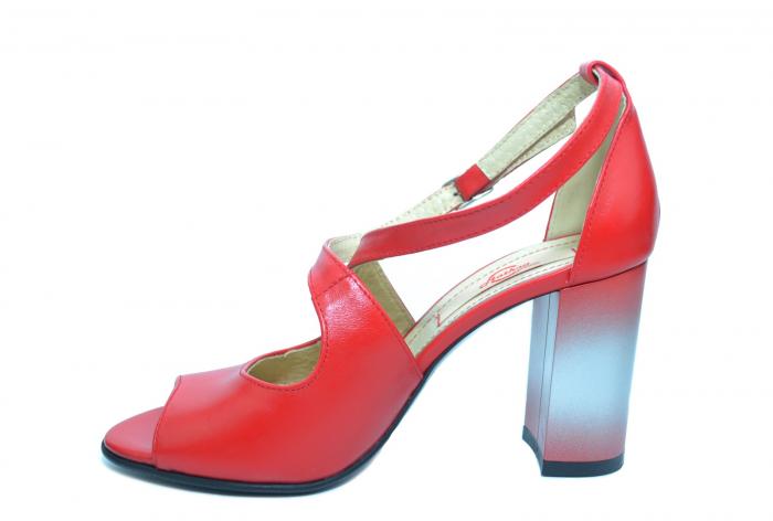 Pantofi Piele Naturala Rosii Francisa 1