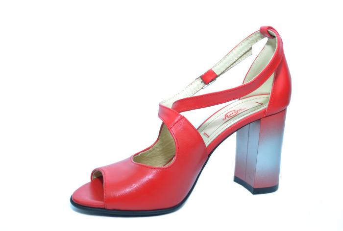 Pantofi Piele Naturala Rosii Francisa 2