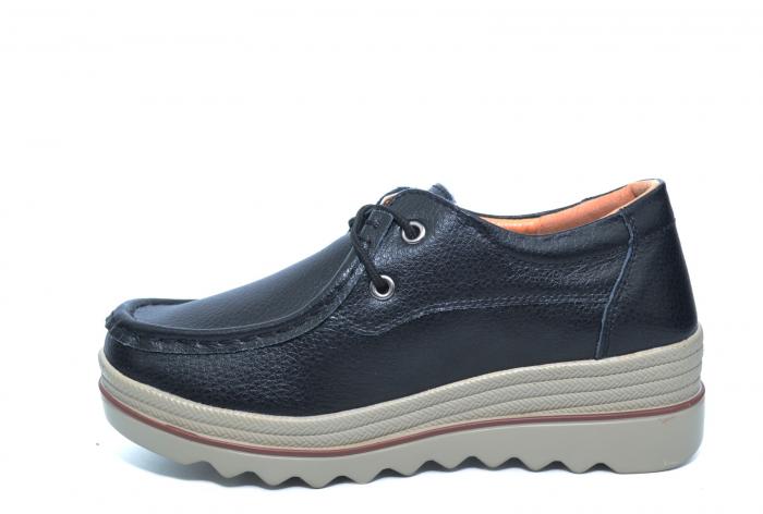 Pantofi Casual Piele Naturala Negri Caterina D02261 1