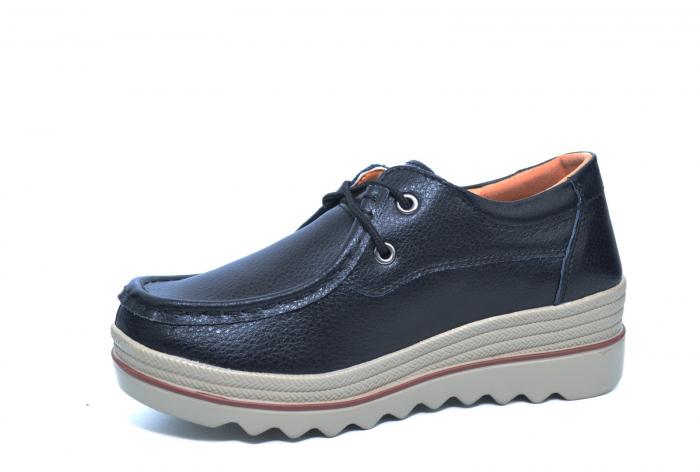 Pantofi Casual Piele Naturala Negri Caterina D02261 2