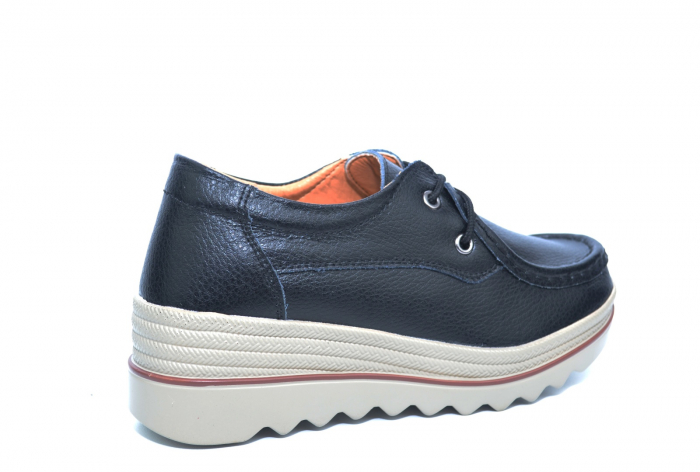 Pantofi Casual Piele Naturala Negri Caterina D02261 3