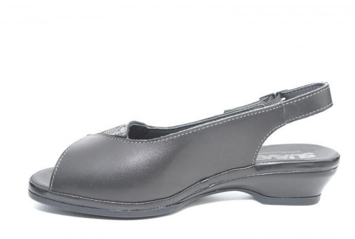 Sandale Piele Naturala Negre Bianca 1