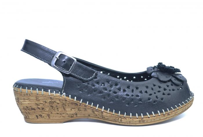 Sandale Piele Naturala Negre Natasha 0