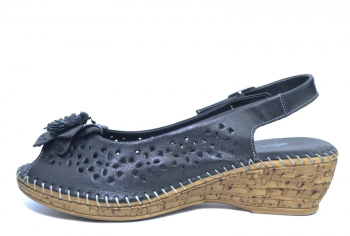 Sandale Piele Naturala Negre Natasha 1