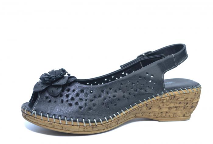 Sandale Piele Naturala Negre Natasha 2