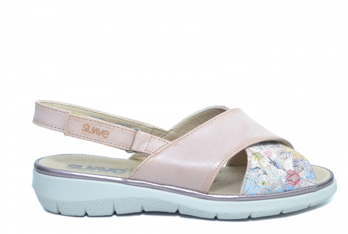 Sandale Piele Naturala Roze Lucia 0