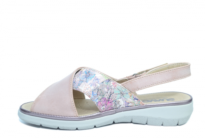 Sandale Piele Naturala Roze Lucia 1
