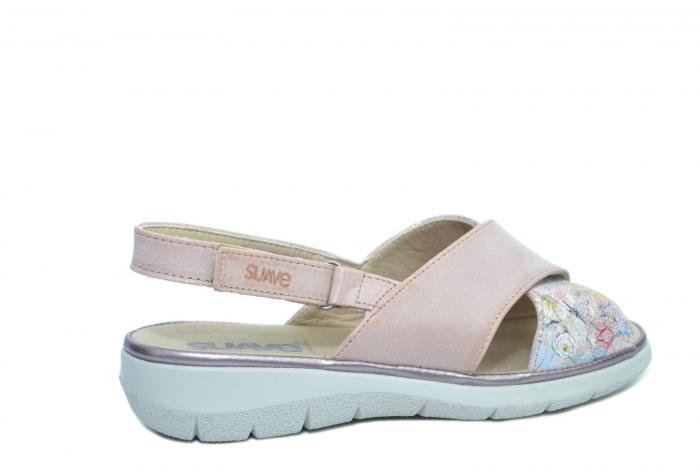 Sandale Piele Naturala Roze Lucia 3